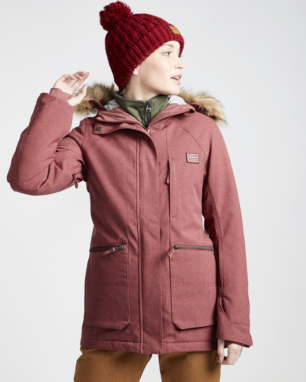 0 Into The Forest - Ski- und Snowboardjacke für Frauen Violett Q6JF08BIF9 Billabong