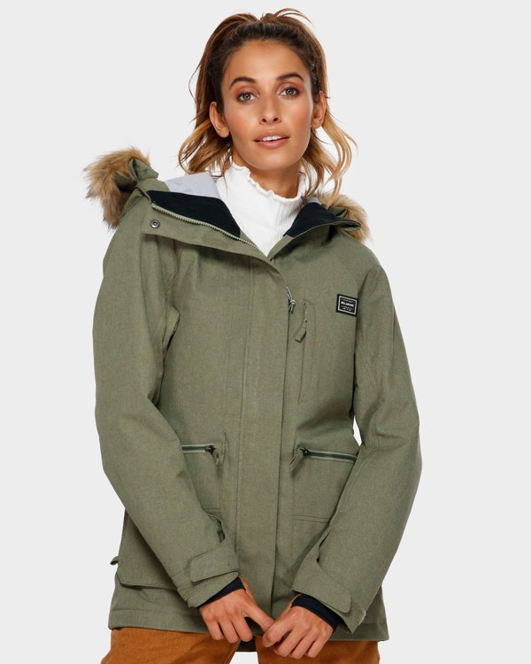 0 Into The Forest 2L 10K Jacket Green Q6JF08S Billabong
