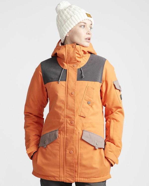 0 Scenic Route - Chaqueta para Nieve para Mujer Naranja Q6JF10BIF9 Billabong