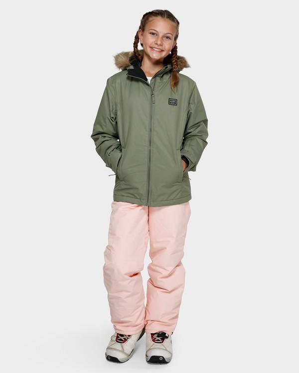 0 Teen Sula 2L 10K Jacket Green Q6JG01S Billabong