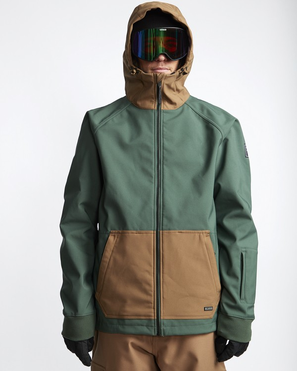 0 Downhill - Softshell Snow Jacket for Men Green Q6JM09BIF9 Billabong