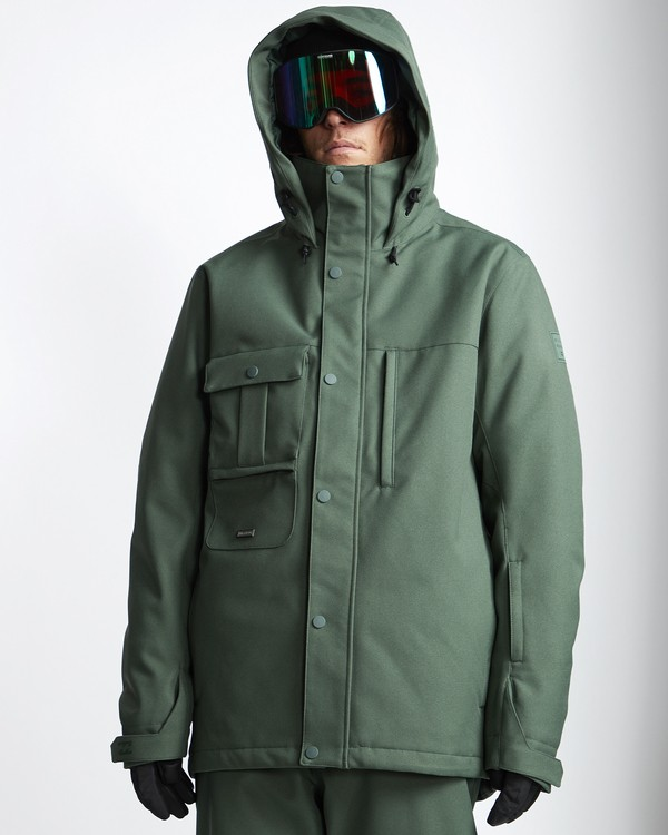 0 Shadow - Snow Jacket for Men Green Q6JM10BIF9 Billabong