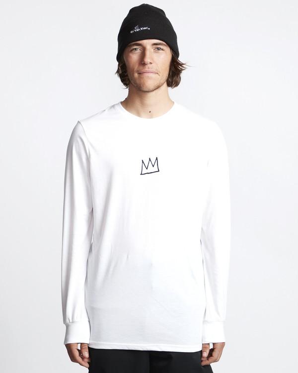 0 Basquiat - Langärmeliges Thermo-T-Shirt für Männer Weiss Q6LS01BIF9 Billabong