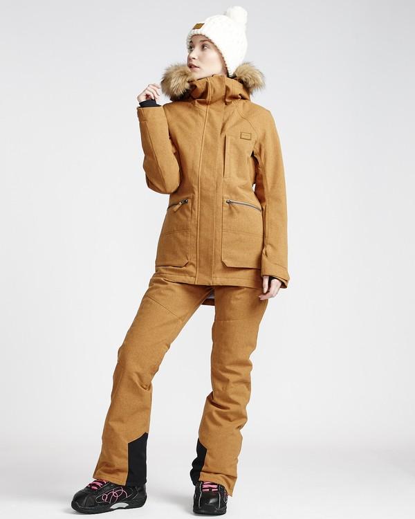 0 Malla - Pantalón para Nieve para Mujer Amarillo Q6PF07BIF9 Billabong