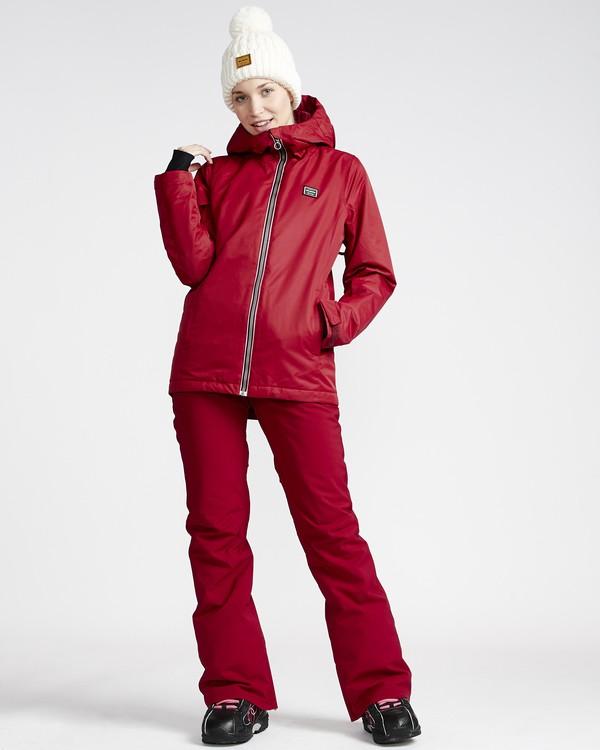 0 Terry - Pantalón para Nieve para Mujer Rojo Q6PF09BIF9 Billabong