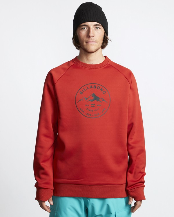 0 Downhill - Crew Tech Jumper for Men Red Q6SM01BIF9 Billabong
