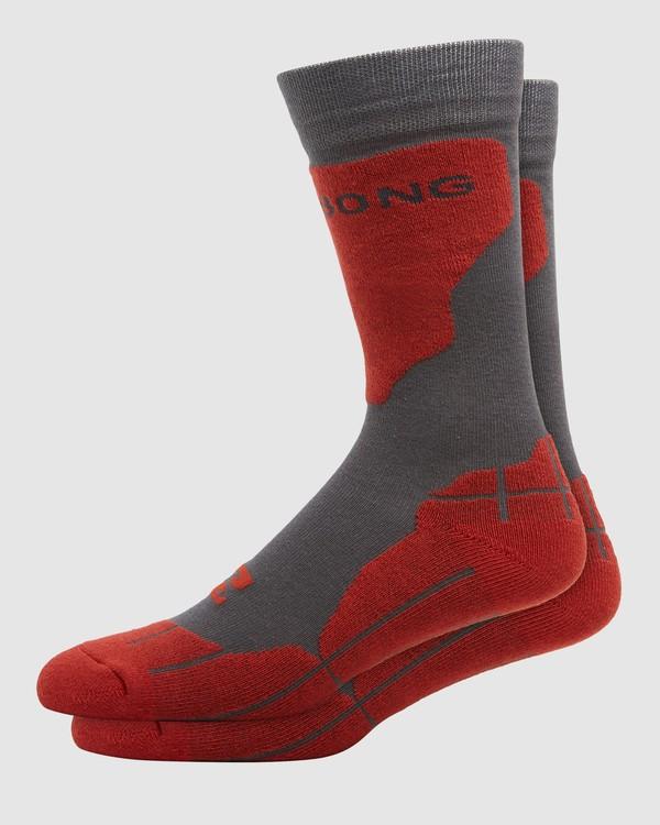 0 Park Coolmax Mens Socks Grey Q6SO02S Billabong