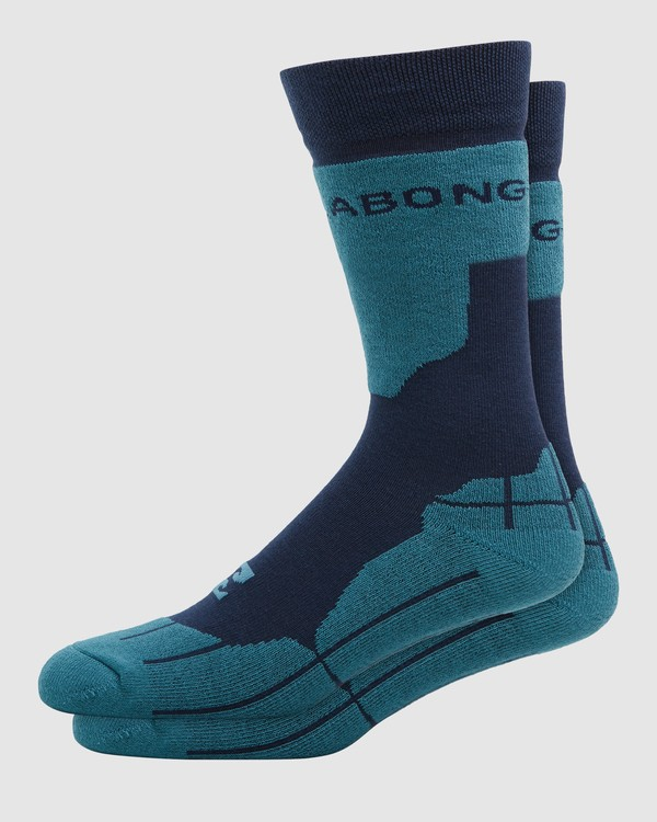 0 Park Coolmax Mens Socks Blue Q6SO02S Billabong