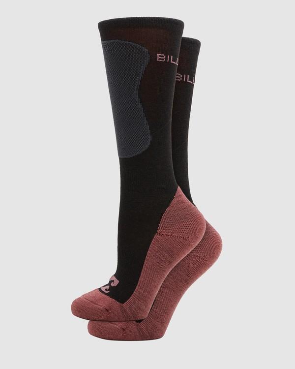 0 Compass Merino Womens Socks Black Q6SO04S Billabong