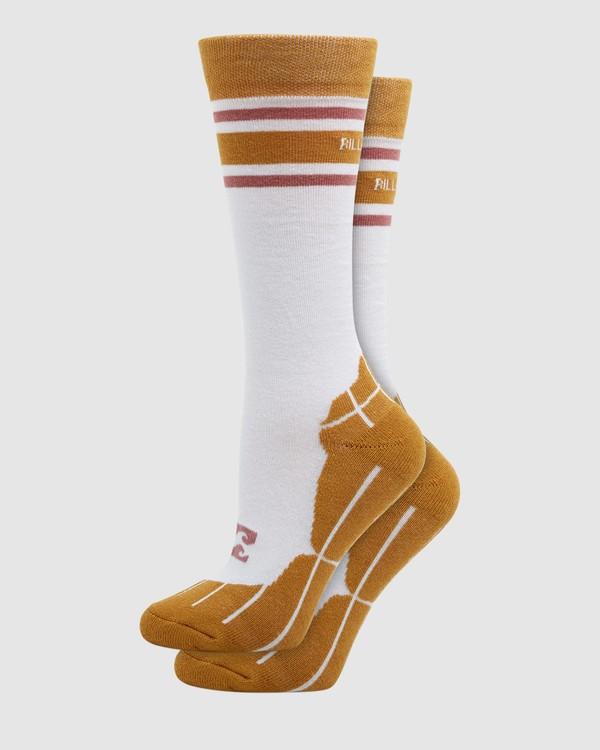 0 Happy Week Womens Socks White Q6SO05S Billabong