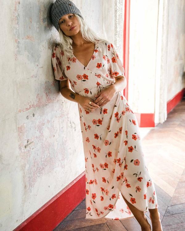 0 Floral Fields - Vestido midi cruzado para Mujer  R3DR10BIMU Billabong