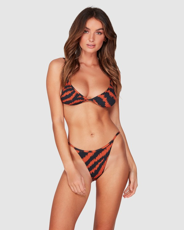 0 Tigress - Braguita de bikini con corte Biarritz para Mujer Negro R3SB34BIMU Billabong