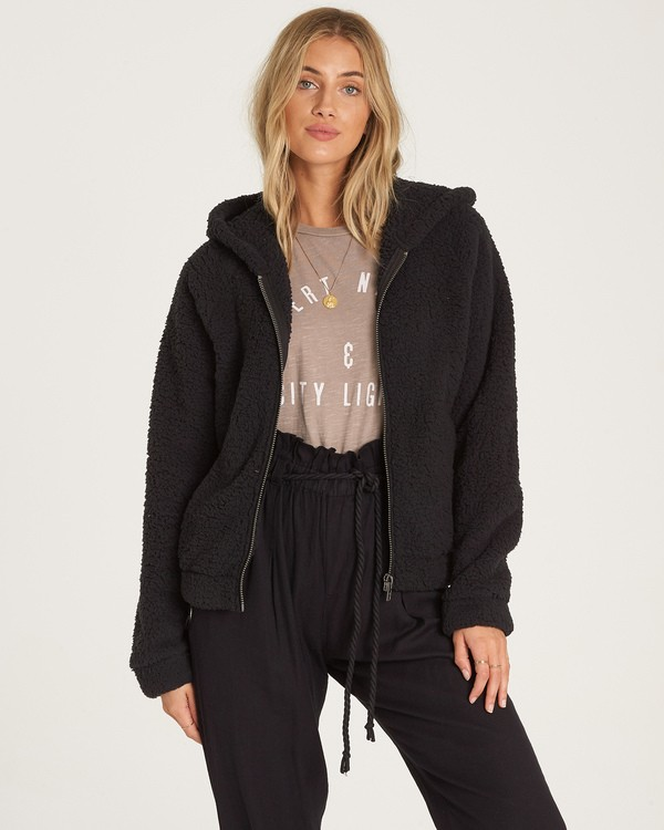 0 Reine Down - Polarfleece-Jacke mit Kapuze für Frauen Schwarz R3WA04BIW9 Billabong