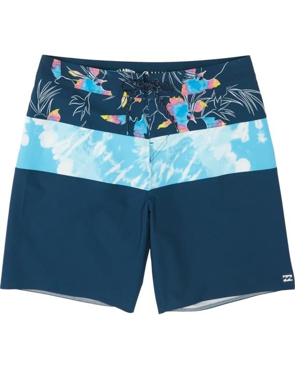 """0 Tribong Pro 19"""" - Bañador de surf de pantalón con estampado para Hombre Azul S1BS26BIP0 Billabong"""