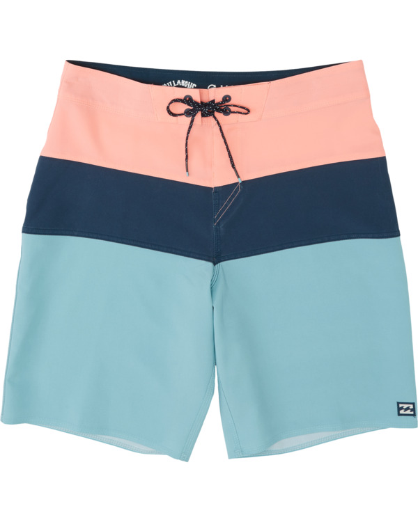 "0 Tribong Pro Solid 19"" - Colour-Blocked Board Shorts for Men Blue S1BS29BIP0 Billabong"