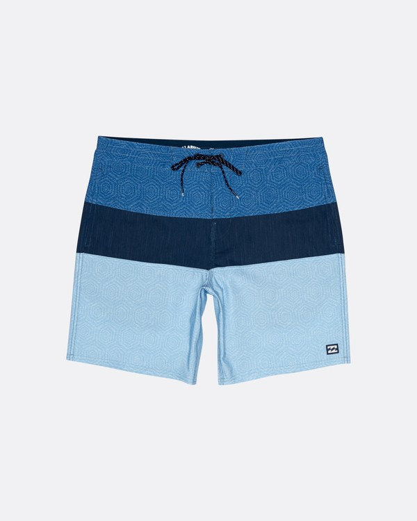 "0 Tribong 19"" - Colour-Blocked Board Shorts for Men Blue S1BS49BIP0 Billabong"