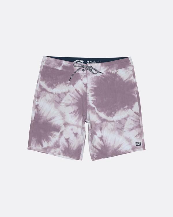 "0 All Day Riot 19"" - Tie-Dye Board Shorts for Men Purple S1BS53BIP0 Billabong"