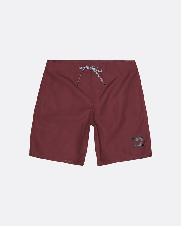 """0 All Day 17"""" - Board Shorts for Men Red S1BS63BIP0 Billabong"""
