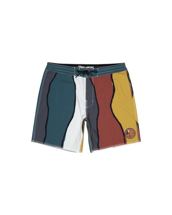 """0 Pukas Factory 17"""" - Bañador de surf de pantalón para Hombre Verde S1BS70BIP0 Billabong"""