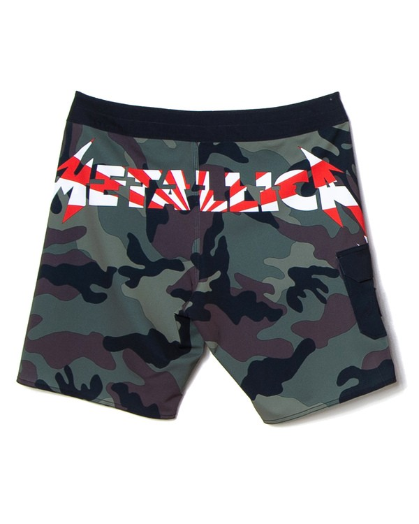 """0 Ai Metallica 19"""" - Camouflage-Bordshorts für Herren Schwarz S1BS81BIP0 Billabong"""