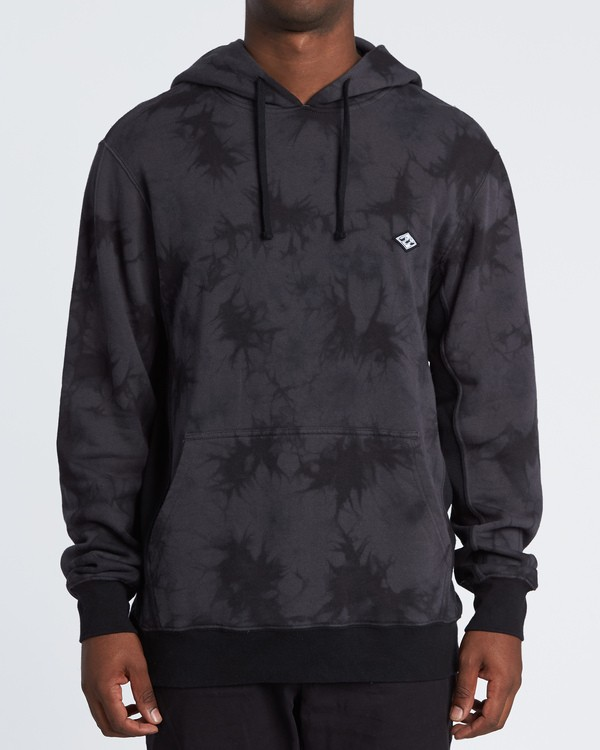 0 Wave Washed Pullover - Tie-Dye Hoodie Sweatshirt for Men Black S1FL07BIP0 Billabong