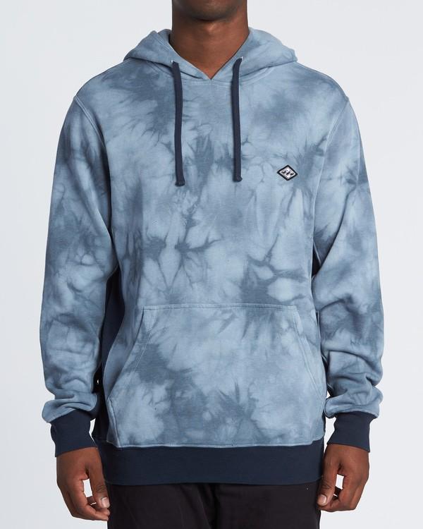 0 Wave Washed Pullover - Tie-Dye Hoodie Sweatshirt for Men Blue S1FL07BIP0 Billabong