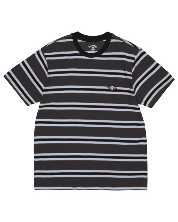 0 Die Cut - Striped T-Shirt for Men Black S1JE06BIP0 Billabong