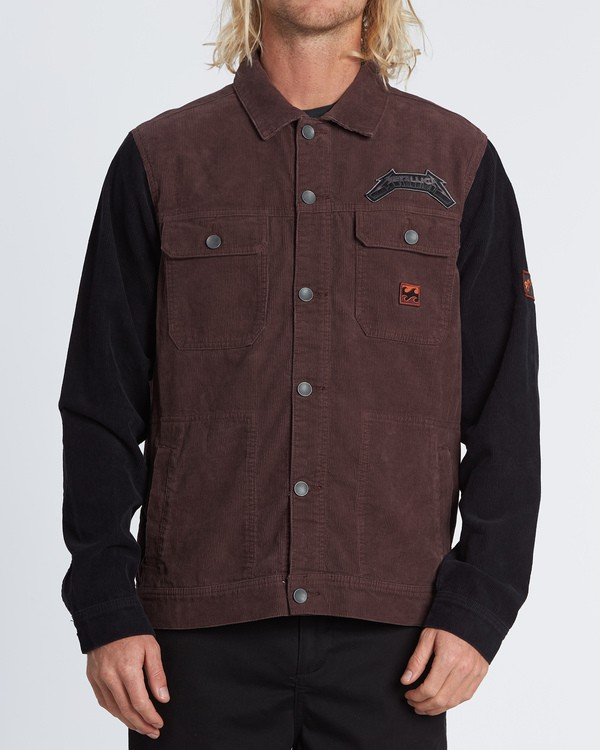 0 Master Of Puppets - Corduroy Jacket for Men Red S1JK36BIP0 Billabong