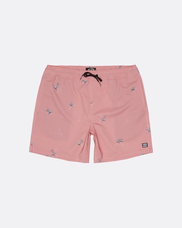 """0 Sundays Pigment Laybacks 17"""" - Bañador de surf de pantalón con cintura elástica para Hombre Rosa S1LB02BIP0 Billabong"""