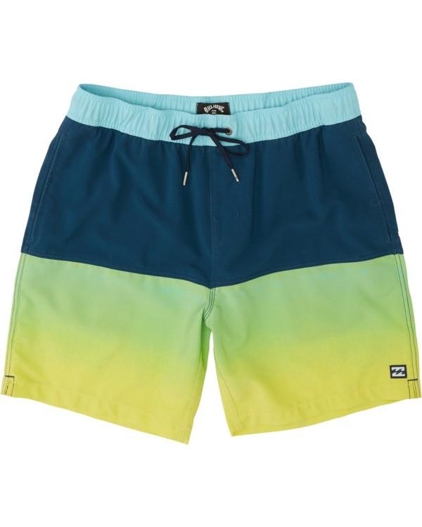 "0 Fifty50 Laybacks 17"" - Elastic Waist Board Shorts for Men Yellow S1LB06BIP0 Billabong"