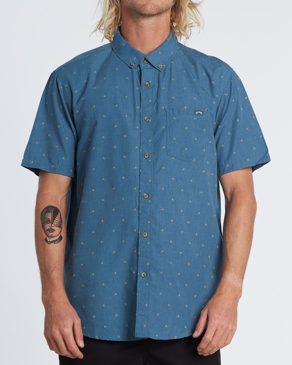 0 All Day Jacquard - Kurzärmeliges Hemd für Herren  S1SH03BIP0 Billabong