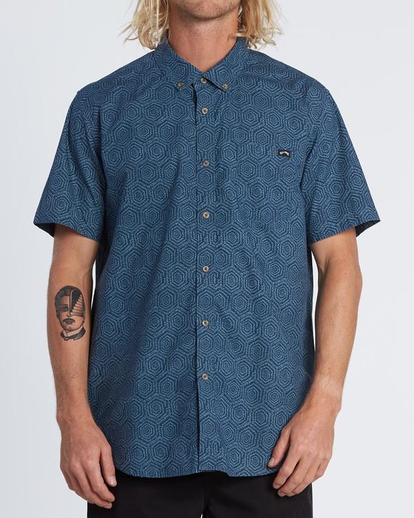0 Sundays Mini - Short Sleeve Shirt for Men Blue S1SH04BIP0 Billabong