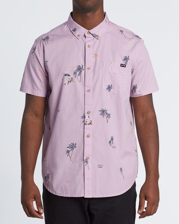 0 Sundays Mini - Kurzärmeliges Hemd für Herren Rosa S1SH04BIP0 Billabong