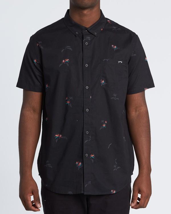 0 Sundays Mini - Kurzärmeliges Hemd für Herren Schwarz S1SH04BIP0 Billabong