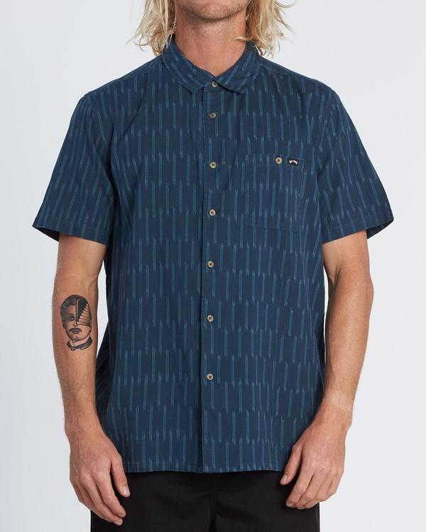 0 Sundays Jacquard - Camisa de manga corta para Hombre Azul S1SH09BIP0 Billabong