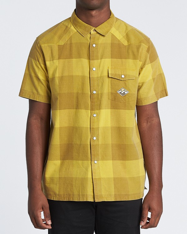 0 Four Doors - Camisa de manga corta para Hombre Amarillo S1SH15BIP0 Billabong