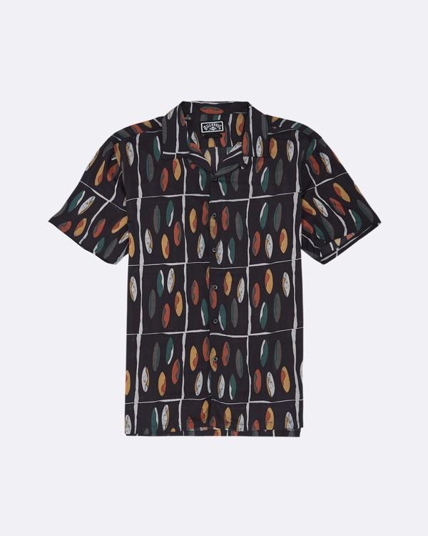 0 Pukas Quiver - Hemd für Herren Schwarz S1SH16BIP0 Billabong