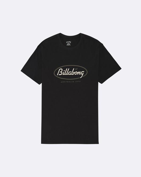 0 State Beach - Camiseta para Hombre Negro S1SS03BIP0 Billabong