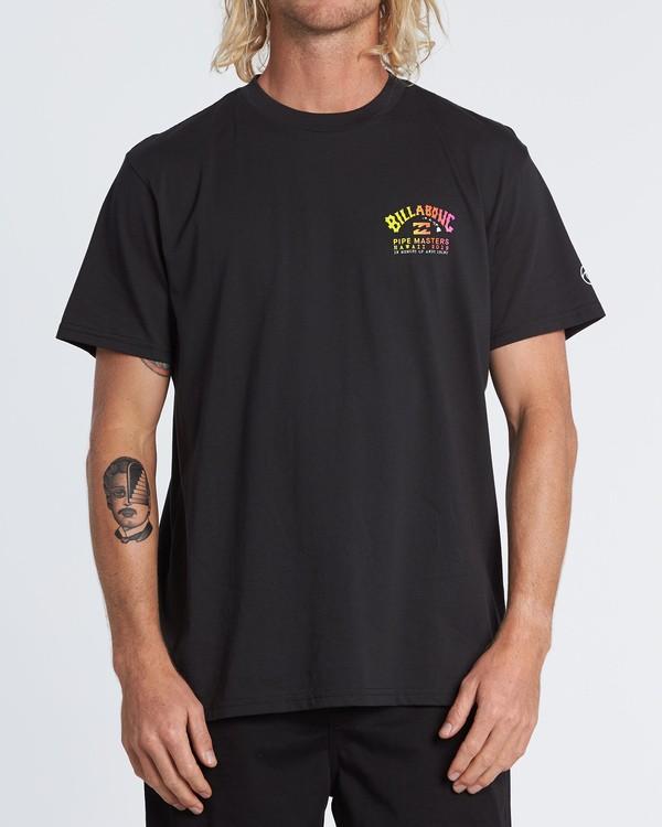 0 Pipe Masters - Camiseta para Hombre Negro S1SS74BIP0 Billabong