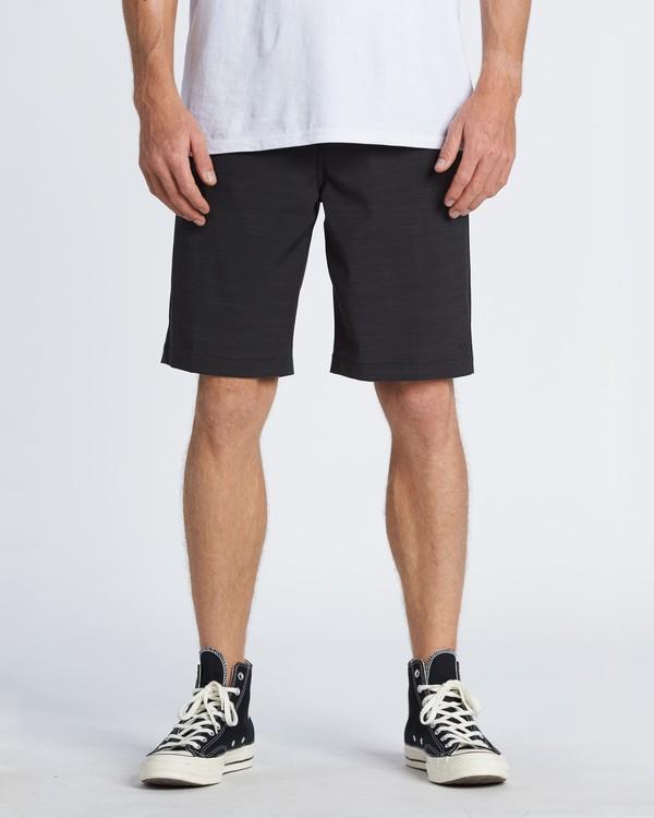 """0 Crossfire Slub 21"""" - Pantalones cortos sumergibles para Hombre Negro S1WK24BIP0 Billabong"""