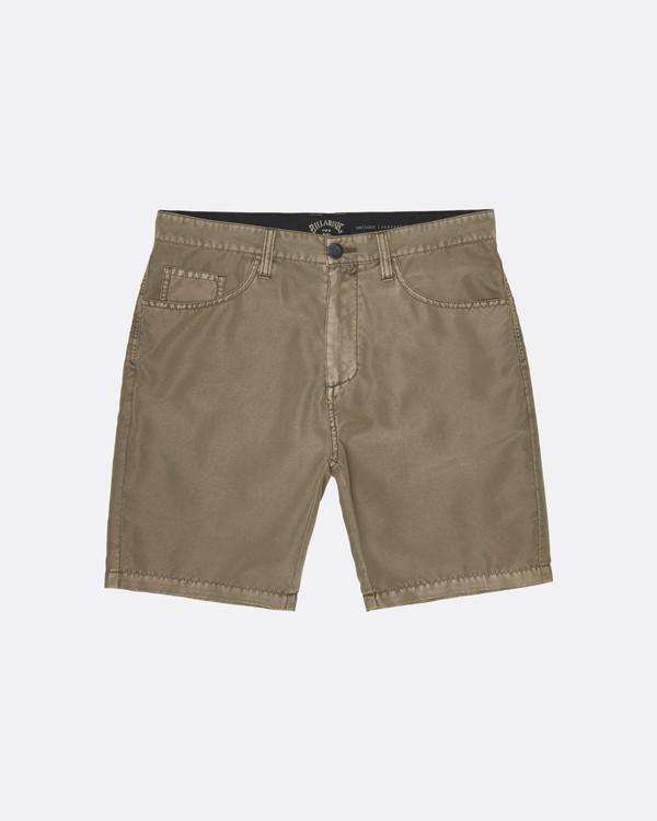 0 Outsider Submersible - Pantalones cortos para Hombre Verde S1WK29BIP0 Billabong