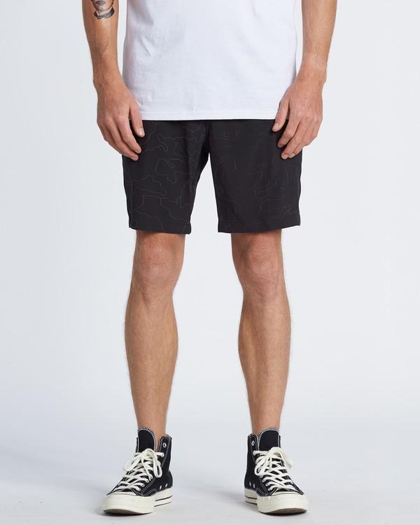 "0 Surftrek Rflx Elastic 18"" - Pantalones cortos de alto rendimiento para Hombre Negro S1WK38BIP0 Billabong"