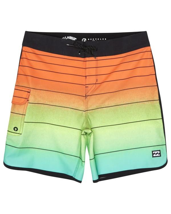 "0 73 Strippe Pro 18"" - Striped Board Shorts for Boys Orange S2BS14BIP0 Billabong"