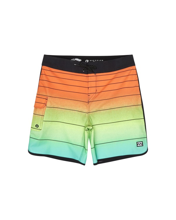 "0 73 Strippe Pro 18"" - Gestreifte Boardshorts für Jungen Orange S2BS14BIP0 Billabong"