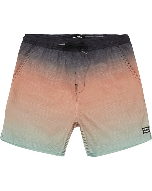 "0 All Day Faded Laybacks 16"" - Elastic Waist Board Shorts for Boys Green S2LB06BIP0 Billabong"