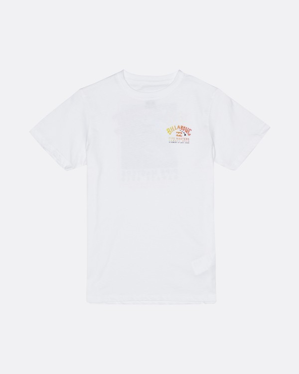 0 Pipe Master - T-Shirt for Boys White S2SS23BIP0 Billabong