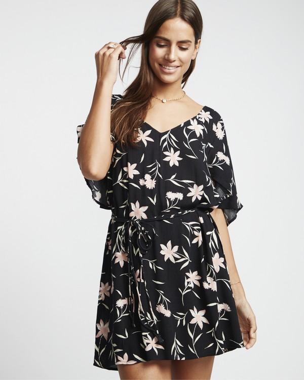 0 Fine Flutter - Vestido para Mujer Negro S3DR01BIP0 Billabong