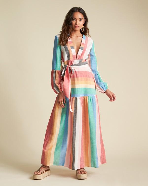 0 Mix It Up - Robe longue à rayures pour Femme  S3DR39BIP0 Billabong