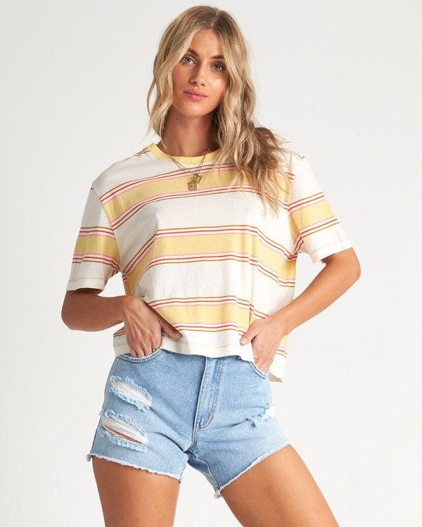 0 Soul Babe 2 - Striped T-Shirt for Women Multicolor S3KT02BIP0 Billabong