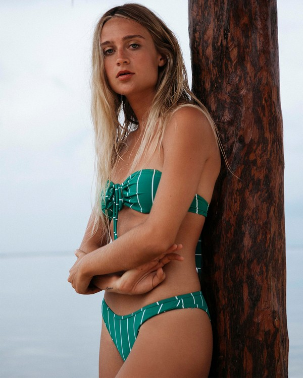 0 Emerald Bay Hike - Braguita de bikini de talle alto a rayas para Mujer Azul S3SB22BIP0 Billabong